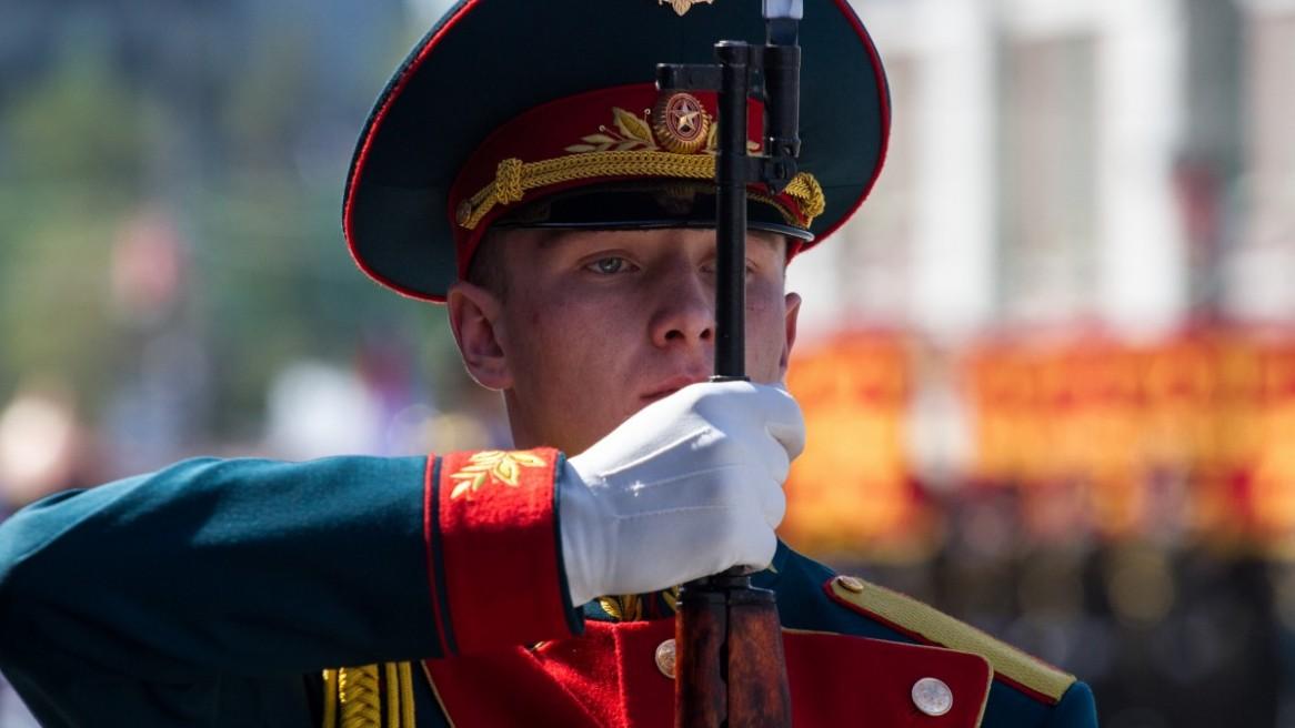 Парад победы в Новосибирске 70лет